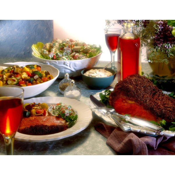 Roast beef and vegetables can be an elegant or casual meal.