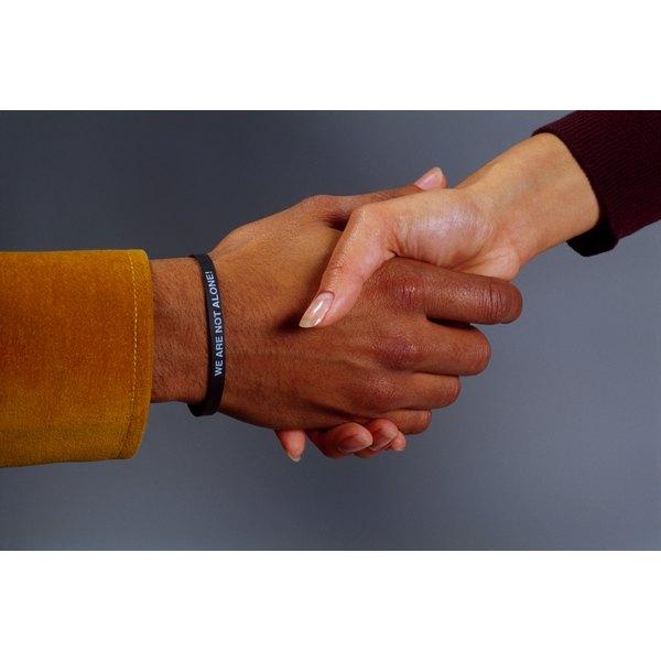 Repair an elastic bracelet using fabric glue.