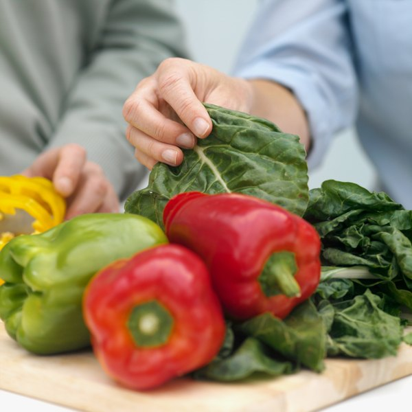 Vegetable sources of Vitamin C include red and green peppers.