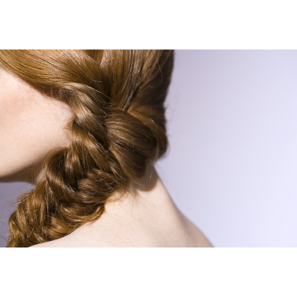 Style your hair with underhand goddess braids.