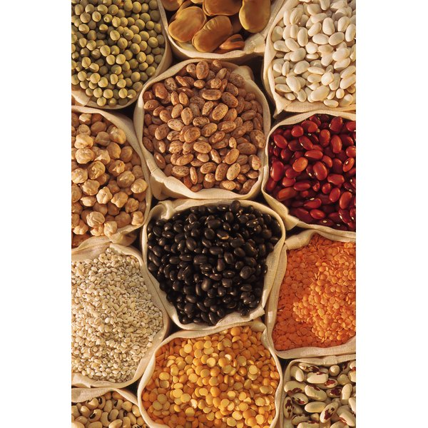 Legumes are rich protein sources.