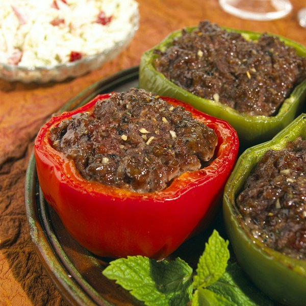 Replace the rice in your stuffed peppers with a low-carb veggie.