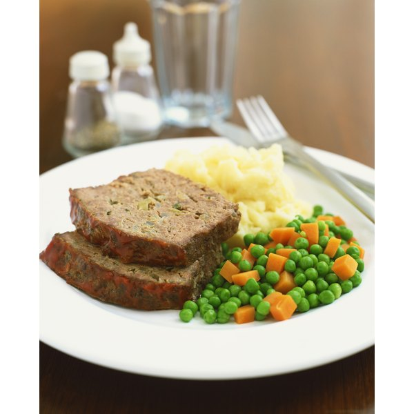 It takes roughly 1 1/2 pounds of meat for a loaf-pan-sized meatloaf.