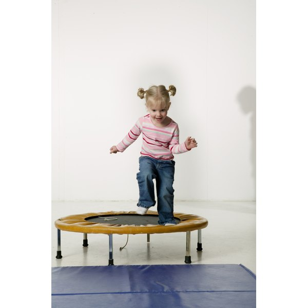 Bouncing on a trampoline is a good activity for a child with sensory processing disorder.