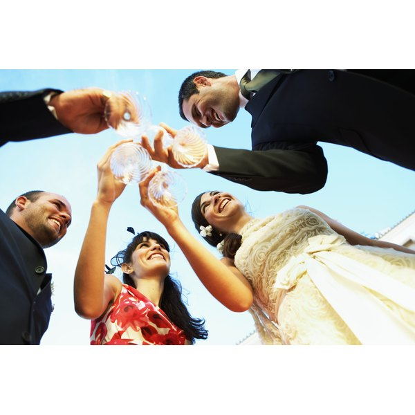 There's usually plenty of time during the reception for the bride and groom to receive congratulations from everyone.