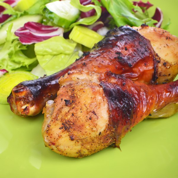 Meats, such as chicken, serve as a rich source of organic protein.