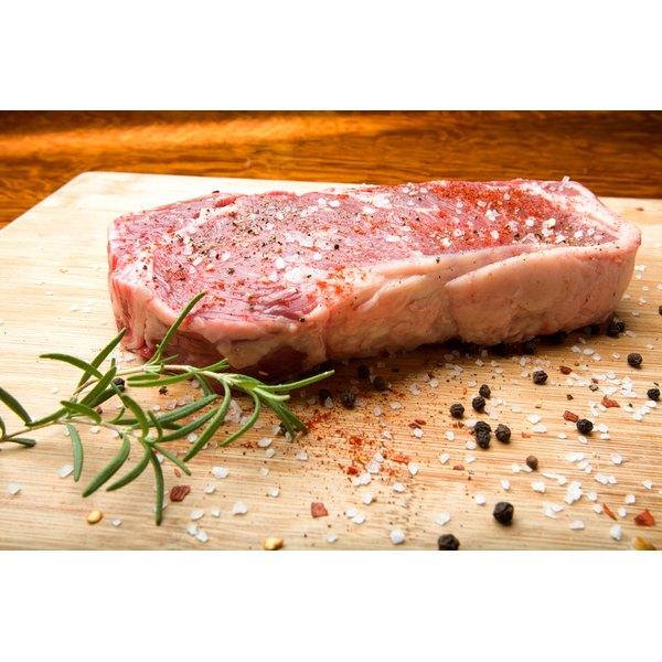 Rib eye steak is always a delicious option.