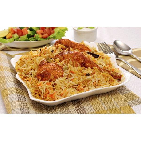 Biryani on a plate.