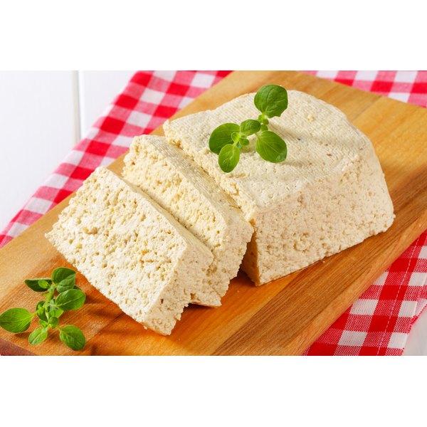 Sliced tofu blocks.