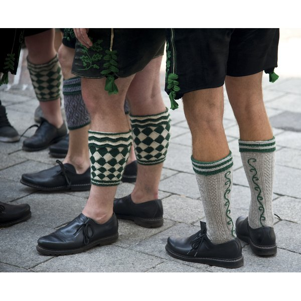 Lederhosen are a traditional part of Bavarian menswear.