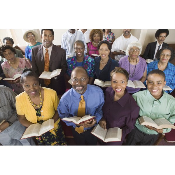 Members of a church congregation.