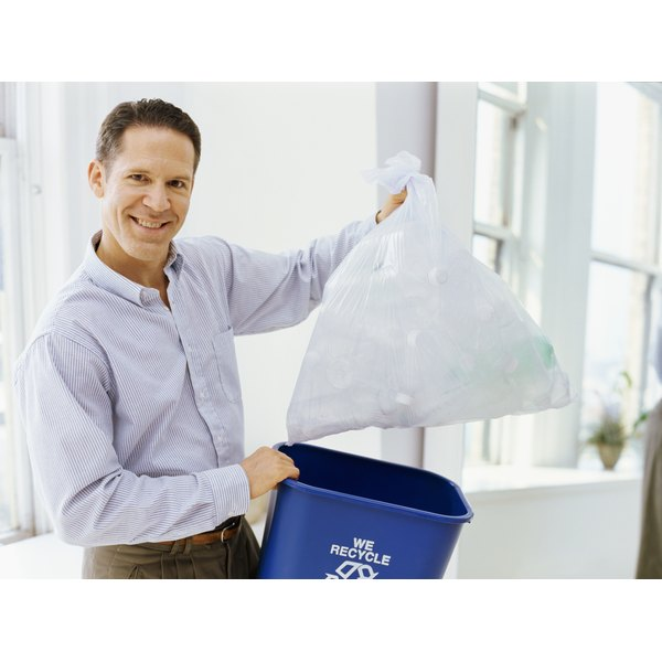 Create a quick and inexpensive shirt using a household trash bag - preferably before it gets used.