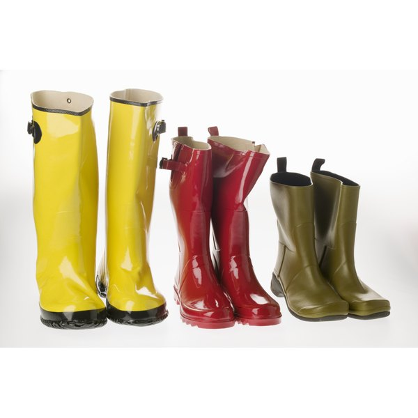 Ripped rubber boots can be restored so that they are completely waterproof again.