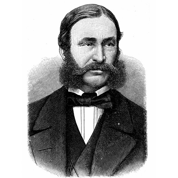 Mutton chops sometimes connected with a mustache.