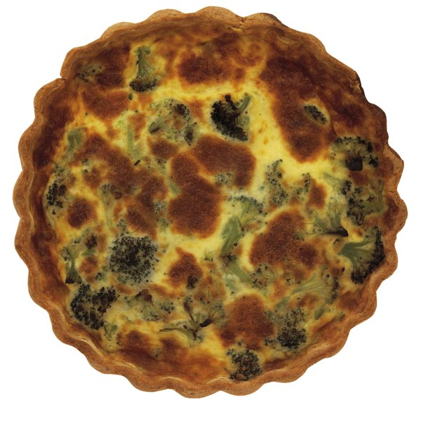 Some simple changes can lower the carbohydrate content of a traditional quiche.
