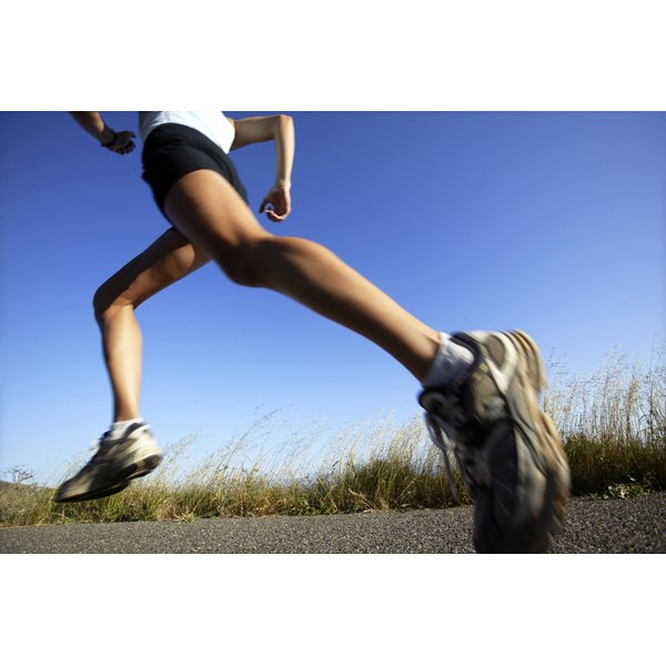 Running at a vigorous pace is considered an intense workout.