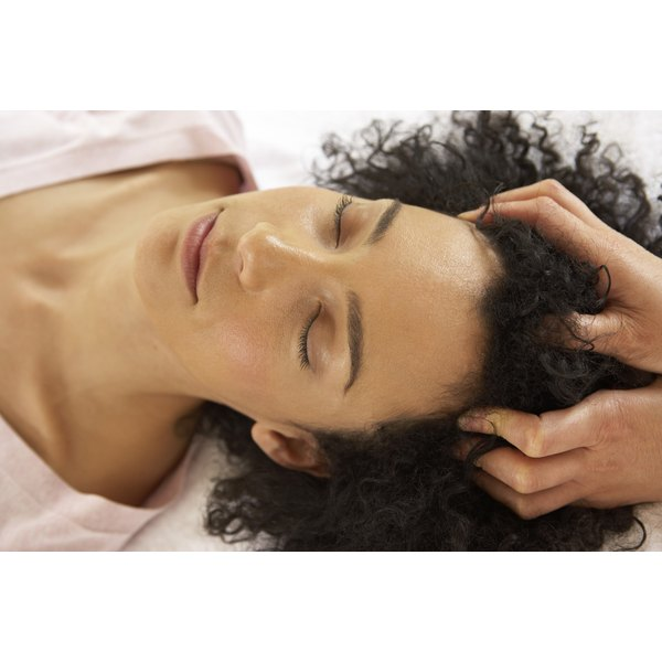 Scalp massage loosens dead skin and increases blood flow to the scalp.