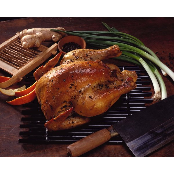Roast a whole chicken with a rotisserie attachment on your gas grill.