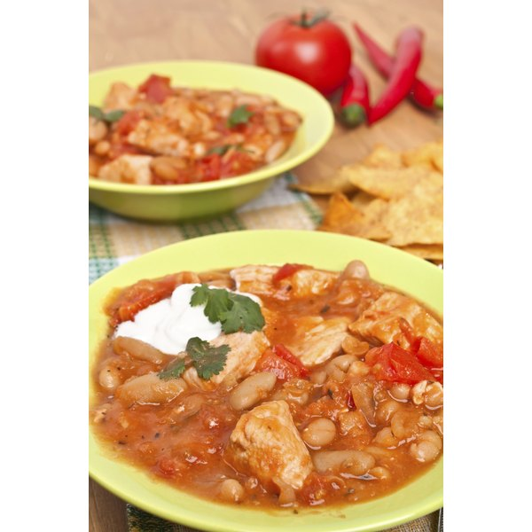 Use turkey or chicken instead of beef for low-fat chili.