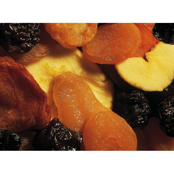 Add dried fruit to nut and seed mixes to increase fiber content.