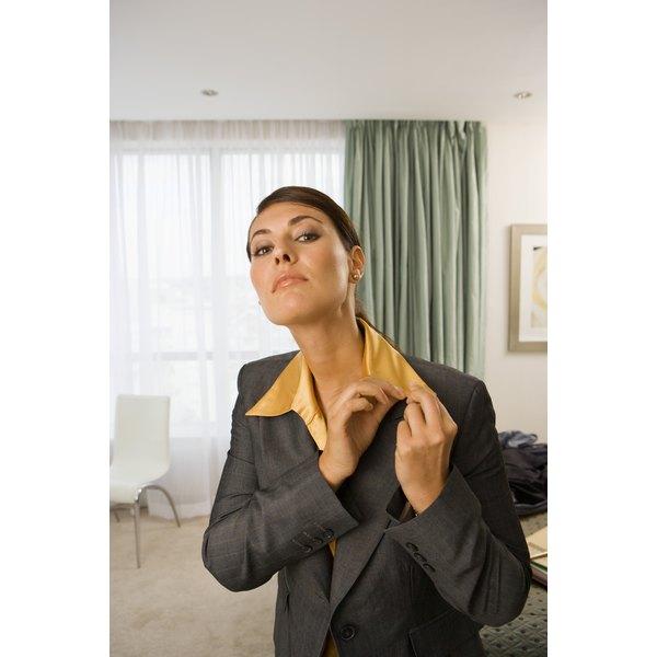 Women often wear pins on their lapels as well.