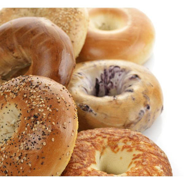 High gluten flour is used in chewy baked goods such as bagels.
