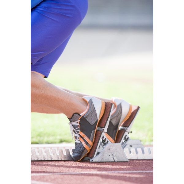 Toes are pushed against the front of the shoe while running.