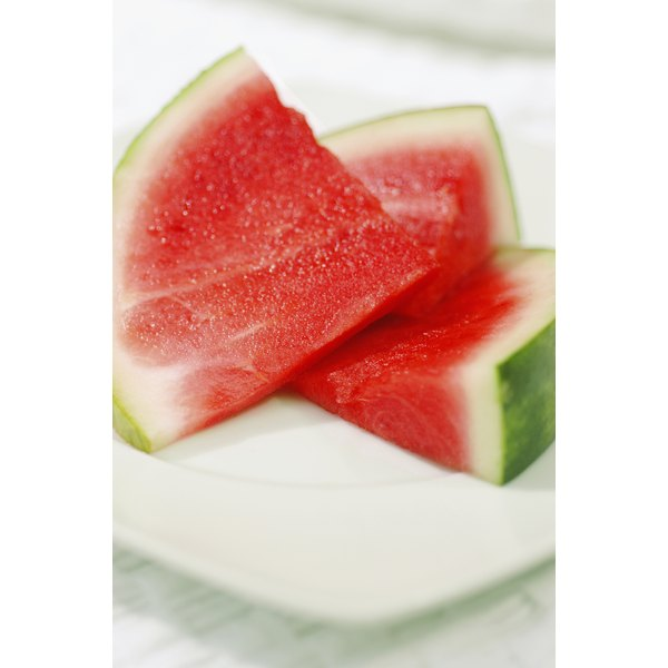 Fill up on low-calorie fruits like watermelon.