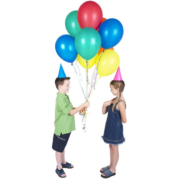 Balloons and hats in simple colors are perfect for a Power Ranger themed birthday party.