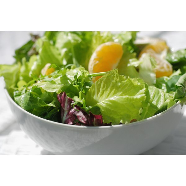 Load up on low-calorie, nutrient-rich foods like salad.