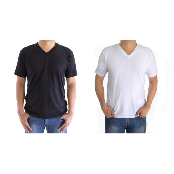 Try to stay away from polyester-blend T-shirts, which easily pill and stain.