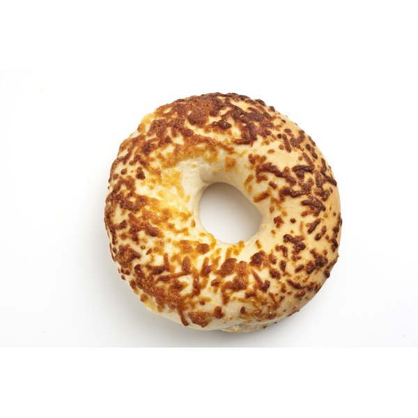 Cheese bagels contain carbohydrates.