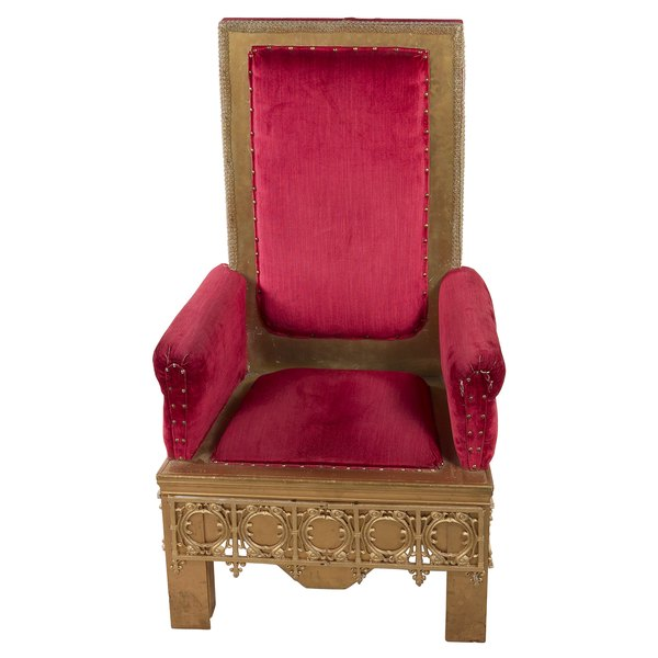 Make a royal throne for your party's guest of honor.
