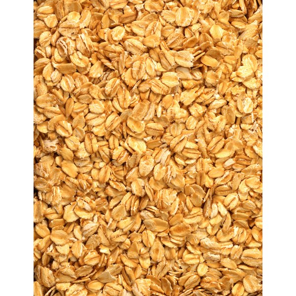 Rolled oats are a healthy source of fiber and vitamins.