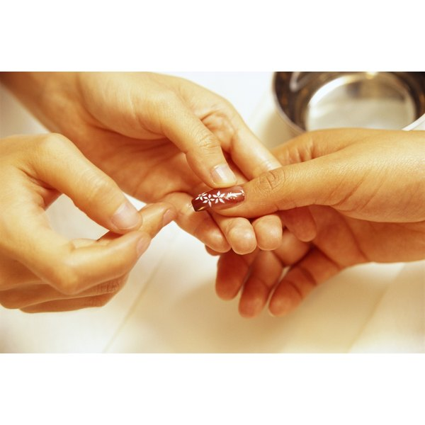 Remove acrylic nails carefully to prevent infection.