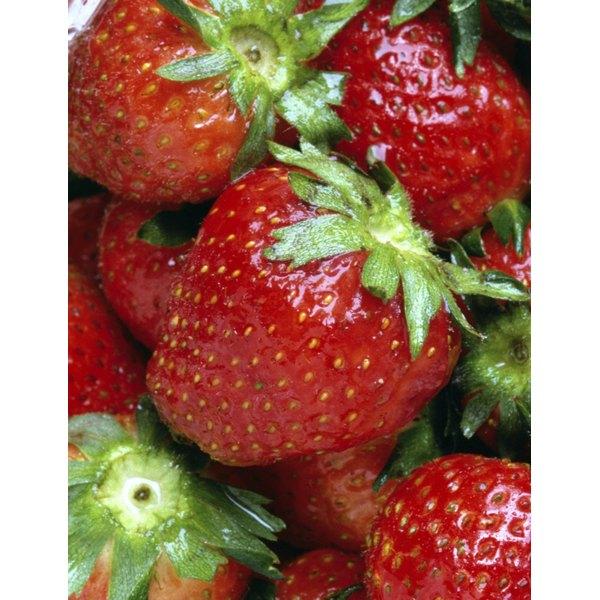 Fresh strawberries soaked in vodka make a delicious dessert.