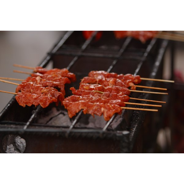 In Rodizio style, meats are typically brought to the table on skewers.