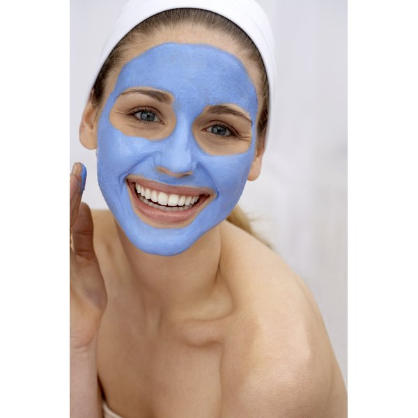 Weekly face mask treatments can help keep the skin healthy.