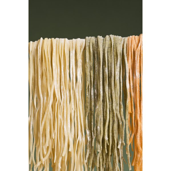 Hang your noodles over a clean wooden dowel to dry.