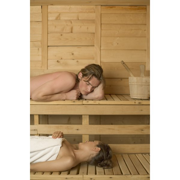Saunas use high heat and low humidity.