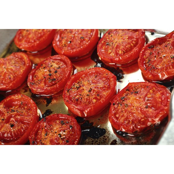 A fresh batch of pan-grilled tomatoes.
