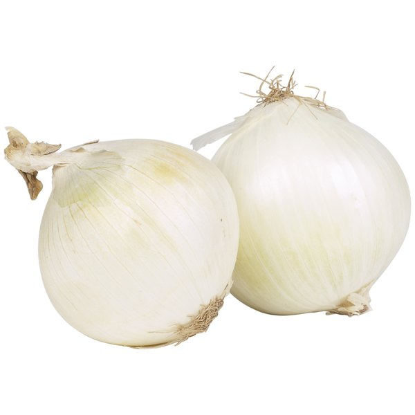 Onions are a healthy source of vitamin C.
