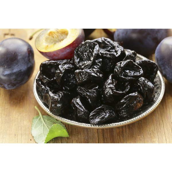 A bowl of prunes.