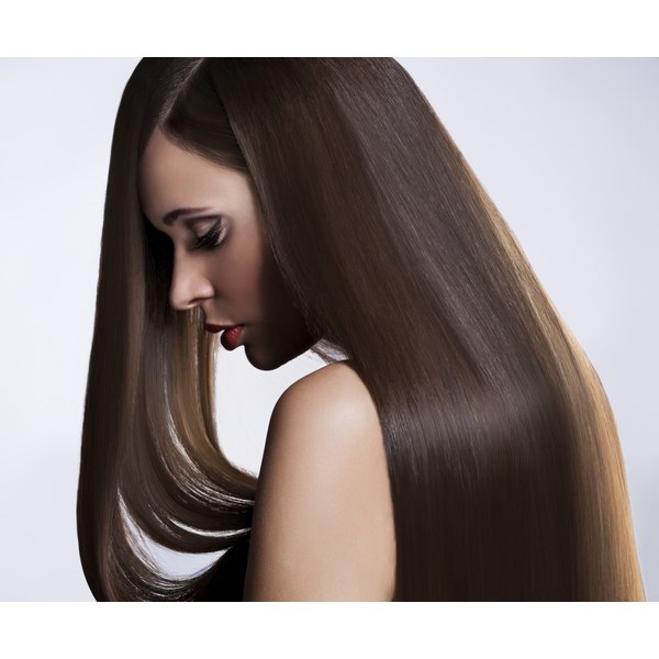 A woman with healthy long hair