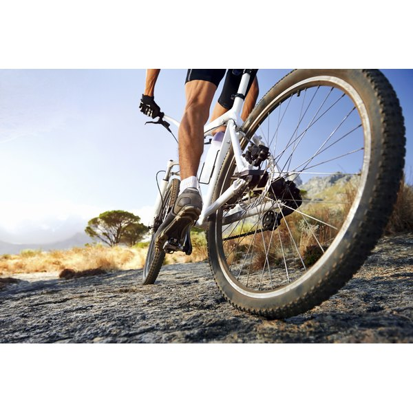 Cycling provides brisk aerobic exercise.