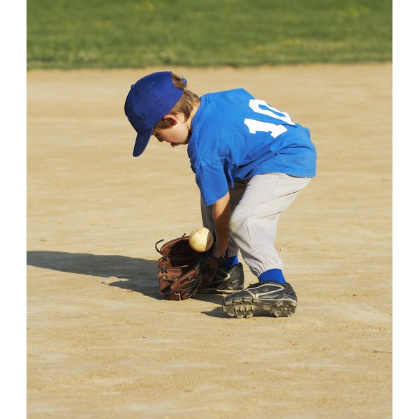 Fielding practice is essential for young ballplayers.