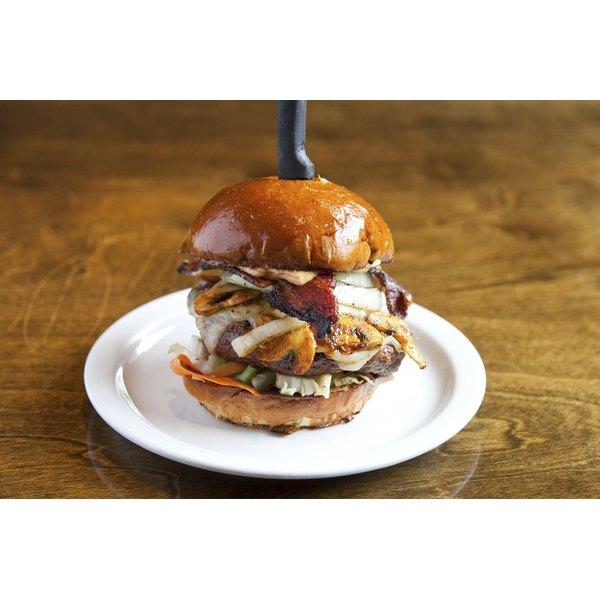 A gourmet hamburger.