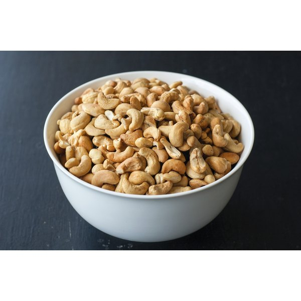 A bowl of cashew nuts.