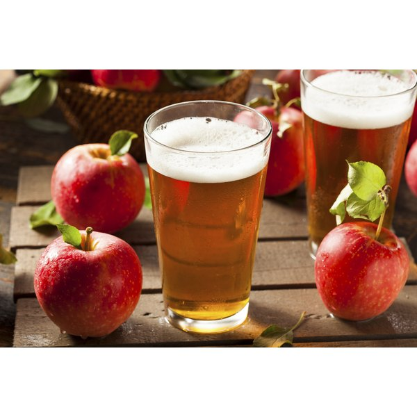 Hard apple cider has about the same number of calories as beer.