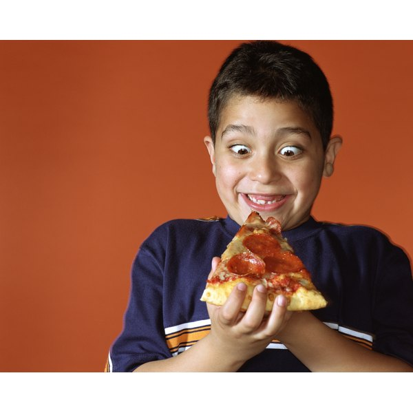Kids love pizza.